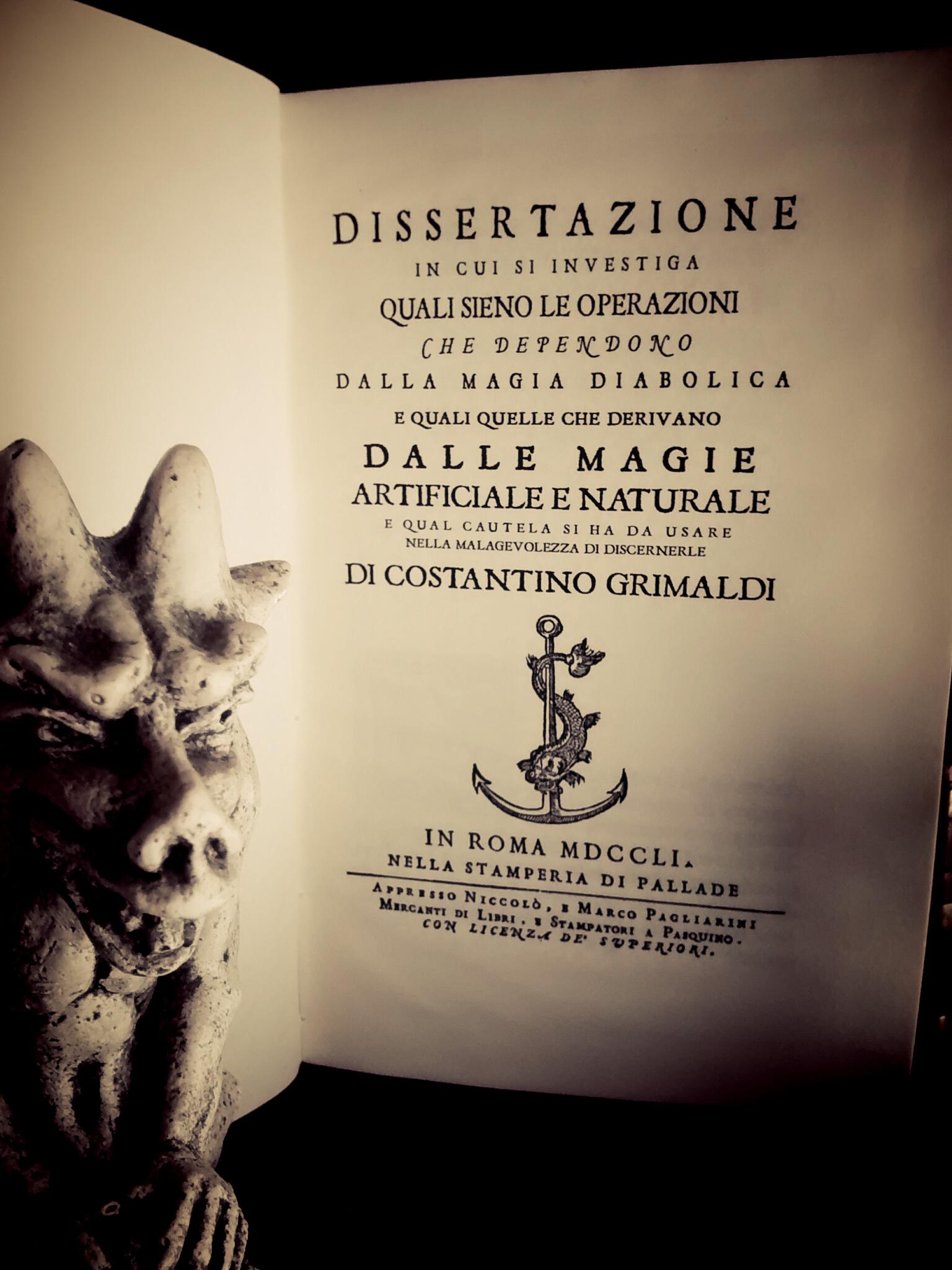 Dissertazione sulla Magia Diabolica – 1751 Costantino Grimaldi