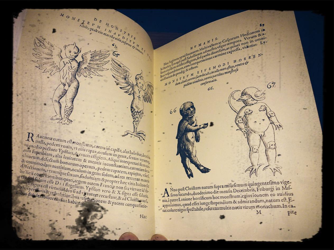 Monstrorum Historia Memorabilis – Joanne G. Schenckii, Francoforte 1609